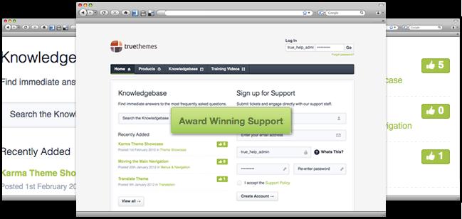 Premium WordPress Themes - Customer Support - TrueThemes
